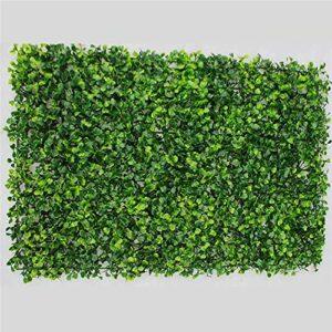 Kasahome 2 Pezzi Siepe Artificiale Decorativa Buxus Pannello Erba sintetica Pianta di Bosso Foglie Sintetiche per… Casa e giardino