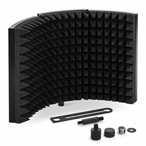 Tonor Sound Shield per Microfono con Isolamento Assorbente Mic Riflettore in Schiuma Fonoassorbente per Qualsiasi… Strumenti e accessori musicali