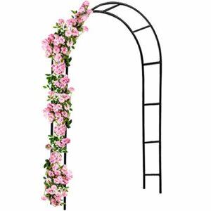 Deuba Arco rampicanti 240x140x37cm Metallo Arco Giardino Fiori Rose Piante Decorazione pergolato Decoro Esterno Supporto Casa e giardino