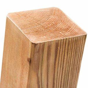 Dove acquistare Pali in legno impregnati, in 18misure, in Legno di Pino con testa piatta, colore: marrone, quadrati, per il fissaggio di recinzioni & protezione della privacy, Marrone