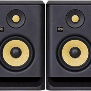 ROKIT RP5 G4 – coppia di studio monitor biamplificati in classe D a 2 vie da 55 watt di colore nero Monitor da studio