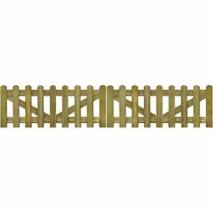 vidaXL 2x Cancello Recinto Steccato 300x60cm Legno FSC Staccionata Recinzione Casa e giardino