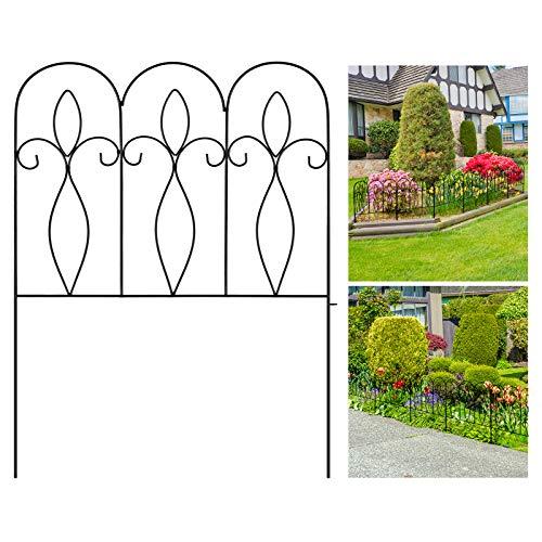 Recinzione da Giardino Decorativa 81CM X 61CM X 5Pcs Recinzione da Giardino Pieghevole in Metallo Rivestito per Esterni… Casa e giardino