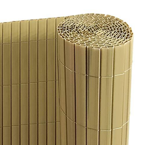 Ribelli Canniccio PVC Recinzione recinto Balcone frangivento, colorazione:bambù, Elementi:Tappetino Privacy in PVC… Casa e giardino