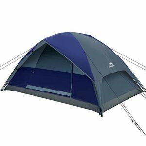 Bessport Tenda da Campeggio 2 posti, Impermeabile a Due Porte con Borsa per Il Trasporto Facile da Montare, Tende per… Campeggio e trekking