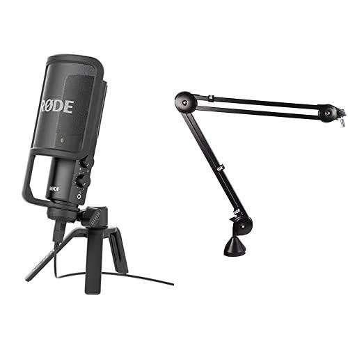 Rode Microphones NT-USB Microfono a Condensatore con Filtro Anti-pop e Supporto da Tavolo, Compatibile con iPad, Cavo… Strumenti e accessori musicali