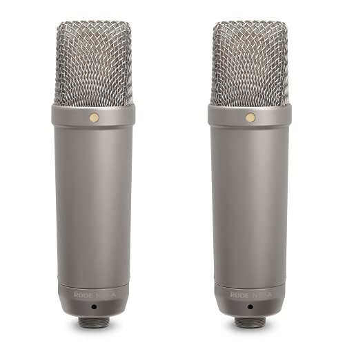 Rode Microphones – NT1A Microfono a diaframma largo per studi di registrazione / podcast, 19 x 5 x 5cm, 24V/48V, Oro Strumenti e accessori musicali