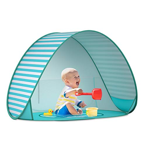 SAEYON Tenda da Spiaggia Bambini, Tenda per Bambini Pop Up Tenda con Mini Piscina, Protezione Solare e UV Tenda Spiaggia… Campeggio e trekking