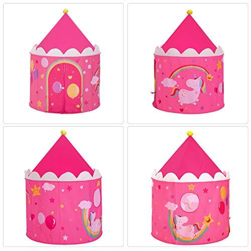 SONGMICS Tenda da Gioco Castello da Principessa per Ragazze e Bambini, Casetta dei Giochi per Interni ed Esterni, con… Giochi e giocattoli