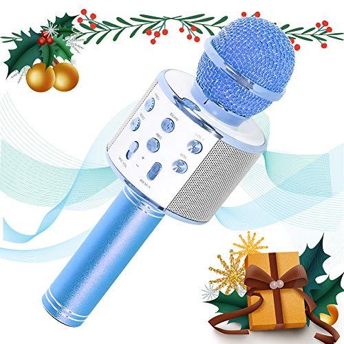 SaponinTree Microfono Karaoke Bluetooth, Wireless Bambini Portatile Karaoke Microfono con Altoparlante per Cantare… Strumenti e accessori musicali