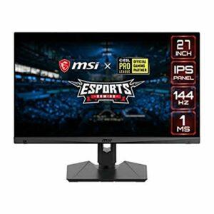 MSI Optix MAG274R Monitor Gaming 27″, Display 16:9 Full HD (1920×1080), Frequenza 144Hz, Tempo di risposta 1ms, Pannello IPS, Mystic Light RGB (Versione Italiana 3 anni di garanzia) Informatica
