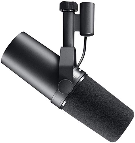 Shure SM7B Vocal Microfono Dinamico per Broadcast, Podcast e Registrazione, XLR Studio Mic per la Musica e la Parola… Strumenti e accessori musicali