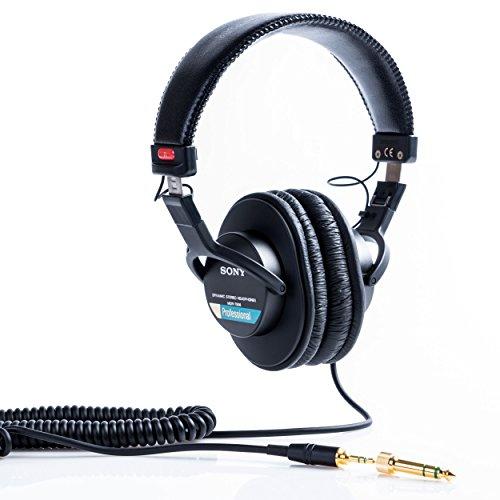 Sony MDR-7506 Cuffie Stereo, Dinamiche Professionali, Driver da 40 mm, Adattore 3.5mm / 6.3mm, Nero Strumenti e accessori musicali