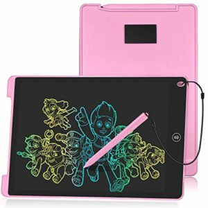 HOMESTEC Tavoletta Grafica LCD 12 Pollici Display Colorato Tavolo da Disegno Cancellabile (Rosa) Informatica