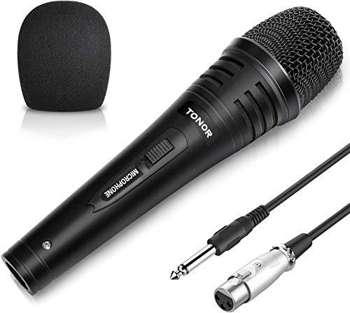TONOR Microfono Dinamico Professionale 4,8m Cavo per DVD/TV/KTV Audio/Risuonatore Strumenti e accessori musicali