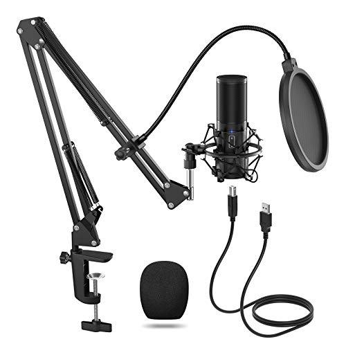 TONOR USB Microfono di Registrazione a Condensatore per Computer Desktop per Laptop MAC o Windows Microfono Cardioide… Strumenti e accessori musicali