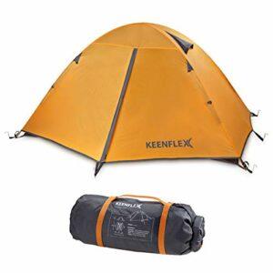 KeenFlex Tenda da Campeggio per 2 Persone Doppio Strato Ultra Leggera Campeggio e trekking