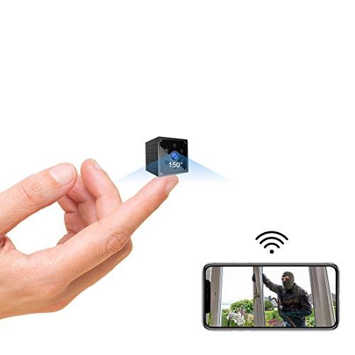 Telecamera Nascosta,AOBO 4K HD Mini Telecamera Spia Wifi Portatile Microcamera con Visione Notturna Piccole Videocamera…