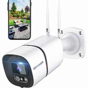Telecamera di sorveglianza wifi da esterno, 1296P HD MP, Lega di alluminio e impermeabile IP66, disponibile con Alexa… Sicurezza e videosorveglianza