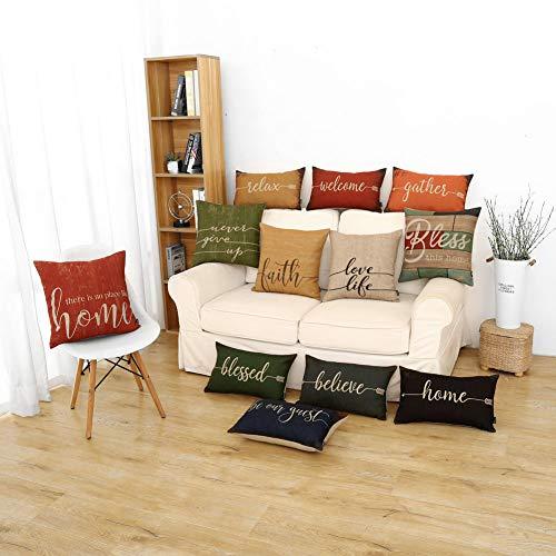 Trendin, federa rustica per cuscino, 20 x 30,5 cm, con parole, in cotone e lino Sugarpine Air Mesh – Donna Casa e cucina