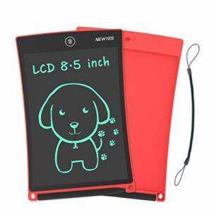 NEWYES NYWT850 Tavoletta Grafica LCD Scrittura, 8,5 Pollici di Lunghezza – Vari Colori(Rosso) Informatica