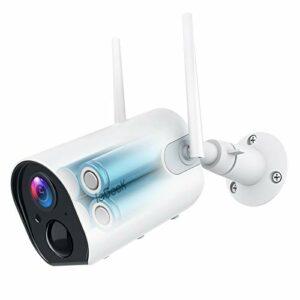 ieGeek Telecamera WiFi Interno/Esterno Senza Fili con 10400mAh Batteria, FHD 1080P Videocamera di Sorveglianza… Sicurezza e videosorveglianza