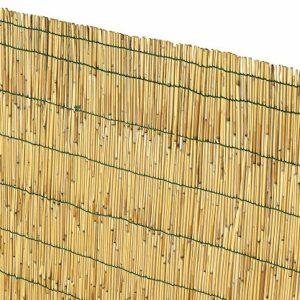 VERDELOOK Arella Cina in cannette Bamboo pelato, 1.5×3 m, bambù per recinzioni e Decorazioni Casa e giardino