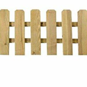 VERDELOOK Recinzione a Listelli Dritti per Esterni, Bassa e Dritta in Pino impregnato, 120×30 cm Casa e giardino