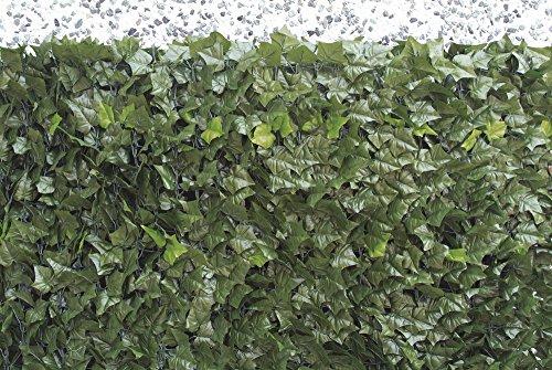 VERDELOOK Sempreverde® Point, Siepe Artificiale 1×3 m, Foglia edera, Decorazioni Giardino Casa e giardino