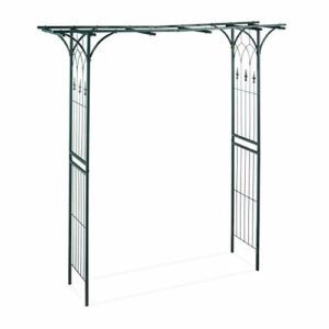 Relaxdays, Verde Scuro Arco per Rose in Metallo, Rettangolare, Sostegno da Giardino, Resistente, 205x202x52 cm Casa e giardino