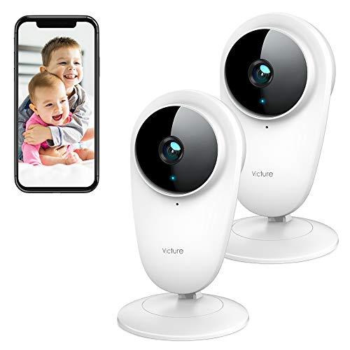 Victure 2 PCS 1080P Telecamera IP di Sorveglianza 2.4G WiFi Interno, Videocamera di sicurezza con Visione Notturna…