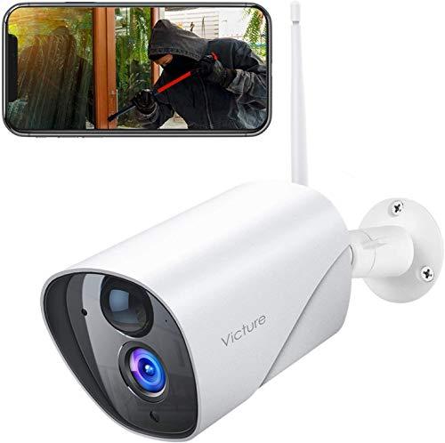 Victure FHD 1080P Telecamera Wifi Esterno, Telecamera IP di Sorveglianza, Rilevamento PIR, Telecamera Statica… Sicurezza e videosorveglianza