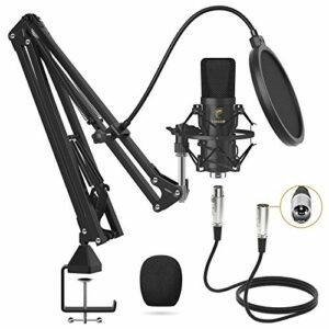 Dove acquistare Microfono a Condensatore, TONOR Microfono Professionale Cardioid XLR con Braccio T20, Supporto Antiurto, Filtro Pop per…