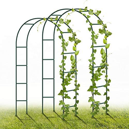 YAOBLUESEA Arco per Rose in Metallo, 2 Pezzi, 240 x 140 x 38 cm, Decorazione da Giardino con Piante, Fiori e Palloncino… Casa e giardino