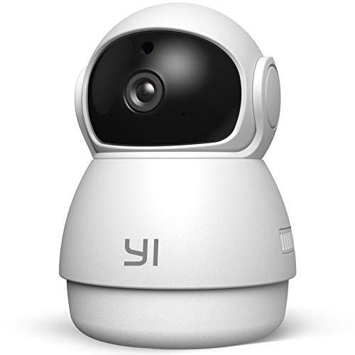 YI Dome Guard Telecamera da Interno 1080p, Videocamera Sorveglianza Wifi 360 gradi, Rilevamento di Movimento, Audio…