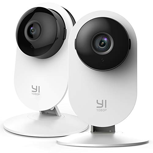 YI Home Camera 1080p Kit da 2 ,IP Camera WiFi,Telecamera Interno di Sorveglianza con Rilevamento di Movimento,Notifiche…
