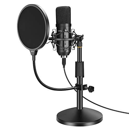 YOTTO Microfono USB per PC laptop, Microfono a Condensatore 192KHz/24Bit Cardioide con Filtro Antipop, Supporto… Strumenti e accessori musicali