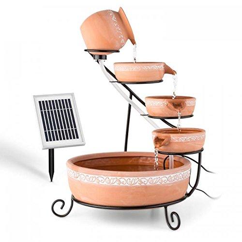 blumfeldt Empoli Full Relax – Fontana a Funzionamento Solare, Fontana a Cascata da Giardino, Pannello Solare 2Watt… Casa e giardino