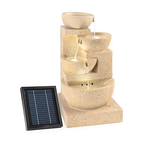 blumfeldt Korinth Fontana Decorativa da Giardino Funzionamento a LED Solare 3 Watt Posizionamento Libero 4 recipienti d… Casa e giardino