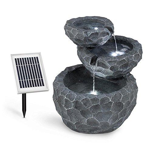 blumfeldt Murach – Fontana a Cascata Solare, Fontana da Giardino, Illuminazione a LED, Pannello Solare 2kW, Batteria da… Casa e giardino