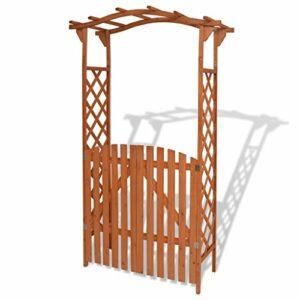 vidaXL Arco da Giardino con Cancelletto in Legno Archetto per Rose Pergolato Casa e giardino