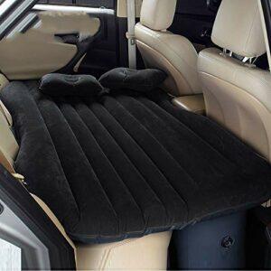 Materasso gonfiabile da auto multifunzionale pieghevole, sedile d'auto ad aria + 2cuscini Campeggio e trekking