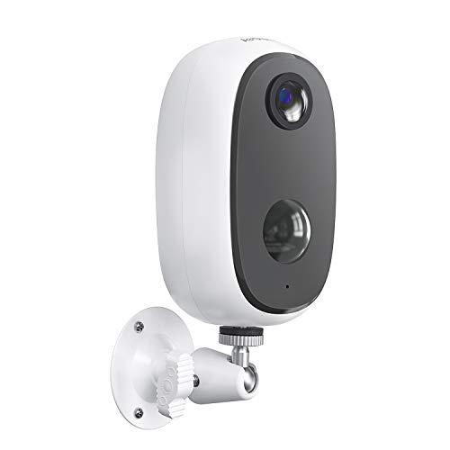 ieGeek Telecamera WiFi Interno/Esterno Batteria 10000mAh Senza Fili, FHD 1080P Telecamera di Sicurezza con Rilevamento…