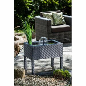 Heissner, vaso con laghetto e giochi d'acqua per terrazze, nero Casa e giardino