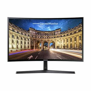 Samsung Monitor C24F396 Curvo da 24″, Pannello VA, Full HD 1,920 x 1,080 Pixel, 4 ms, Freesync, 1 HDMI Port, 1 D-Sub Port, Game Mode, Flicker Free, Eye Saver Mode, Nero, Versione 2021 Informatica