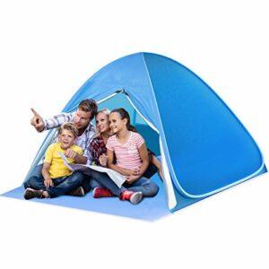 SAEYON L Tenda da Spiaggia, Tenda Spiaggia Pop-up con Sipario Cerniera, Protezione Solare UPF 50+ Beach Tent, Tenda… Campeggio e trekking