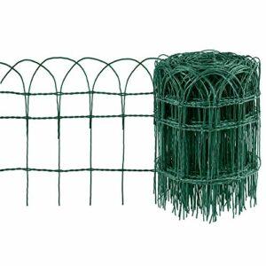 Amagabeli 0,4 m x 25 m Recinzione per Bordi da Giardino Verde 2,95 mm RAL6005 Recinzione in Rete Metallica Rivestita in… Casa e giardino
