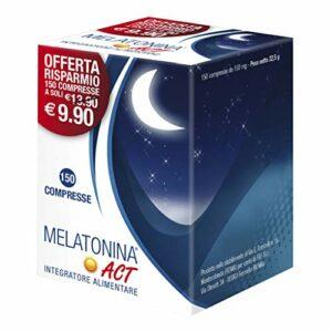 ACT Melatonina 1Mg, Blu, 150 Compresse Best Sellers
