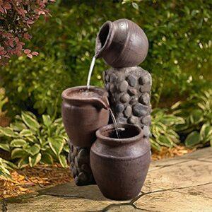 Peaktop VFD8210-EU Fontana ad Aria Aperta impilata, Grigio Pietra Casa e giardino