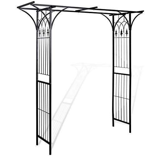 vidaXL Arco da Giardino Ferro Nero per Piante Rampicanti Traliccio Pergolato Casa e giardino
